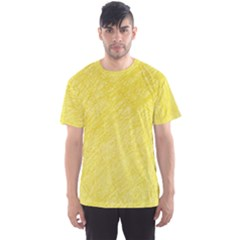 Yellow pattern Men s Sport Mesh Tee