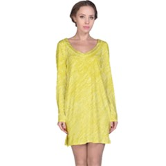Yellow pattern Long Sleeve Nightdress