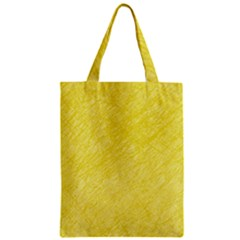 Yellow pattern Zipper Classic Tote Bag
