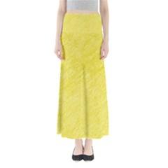 Yellow pattern Maxi Skirts