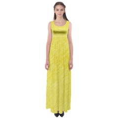 Yellow Pattern Empire Waist Maxi Dress