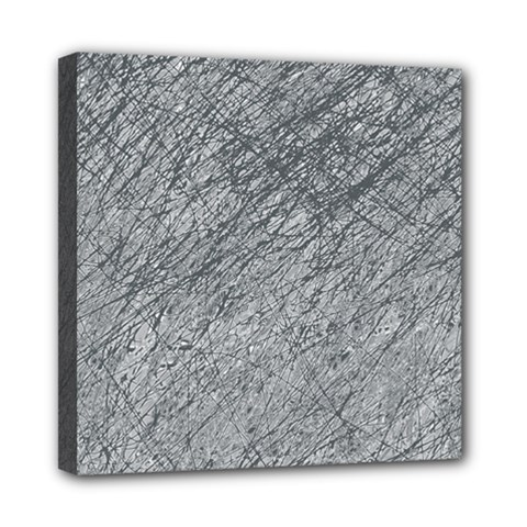 Gray pattern Mini Canvas 8  x 8