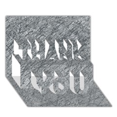 Gray pattern THANK YOU 3D Greeting Card (7x5)