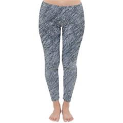 Gray pattern Winter Leggings
