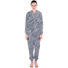 Gray pattern Hooded Jumpsuit (Ladies)