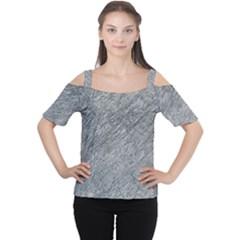 Gray Pattern Women s Cutout Shoulder Tee