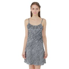 Gray pattern Satin Night Slip