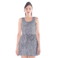 Gray pattern Scoop Neck Skater Dress