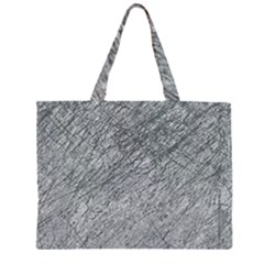 Gray pattern Zipper Large Tote Bag