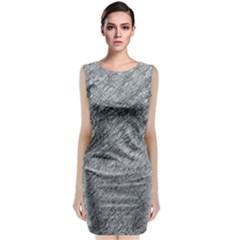 Gray Pattern Classic Sleeveless Midi Dress