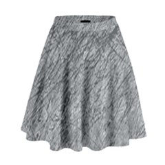 Gray pattern High Waist Skirt