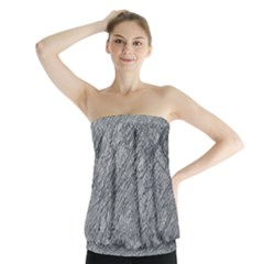 Gray pattern Strapless Top