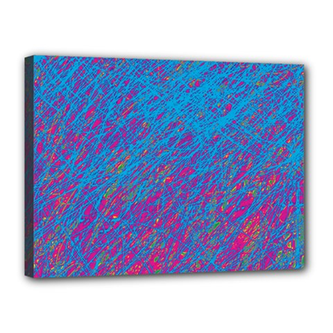 Blue pattern Canvas 16  x 12