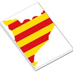 Flag Map Of Catalonia Large Memo Pads