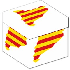 Flag Map Of Catalonia Storage Stool 12
