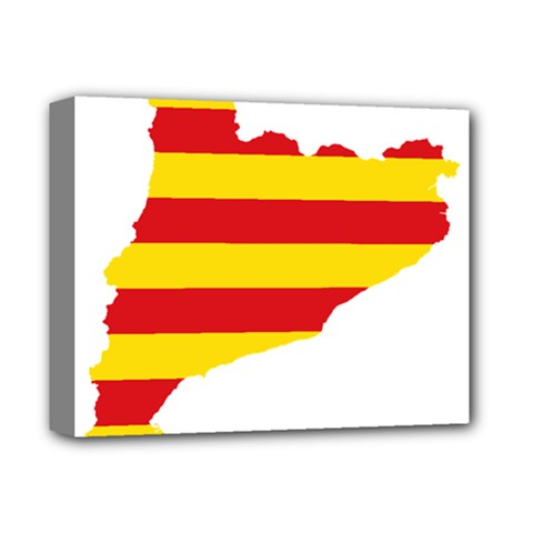 Flag Map Of Catalonia Deluxe Canvas 14  x 11