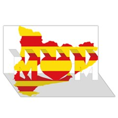 Flag Map Of Catalonia MOM 3D Greeting Card (8x4)