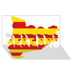 Flag Map Of Catalonia BEST BRO 3D Greeting Card (8x4)