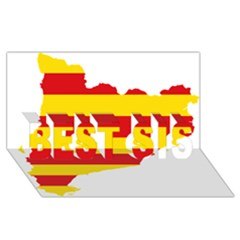 Flag Map Of Catalonia BEST SIS 3D Greeting Card (8x4)