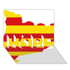 Flag Map Of Catalonia HOPE 3D Greeting Card (7x5)