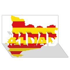 Flag Map Of Catalonia #1 DAD 3D Greeting Card (8x4)