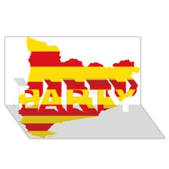 Flag Map Of Catalonia PARTY 3D Greeting Card (8x4)