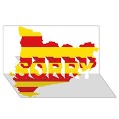 Flag Map Of Catalonia SORRY 3D Greeting Card (8x4)