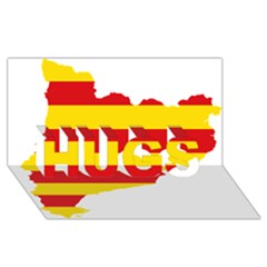Flag Map Of Catalonia HUGS 3D Greeting Card (8x4)