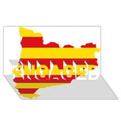 Flag Map Of Catalonia ENGAGED 3D Greeting Card (8x4)