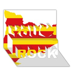 Flag Map Of Catalonia You Rock 3D Greeting Card (7x5)