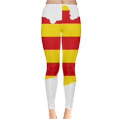 Flag Map Of Catalonia Leggings