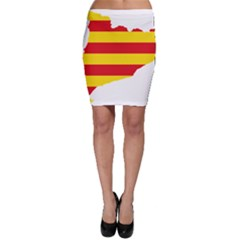 Flag Map Of Catalonia Bodycon Skirt