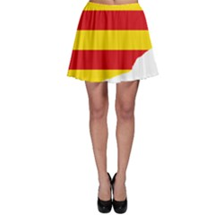 Flag Map Of Catalonia Skater Skirt
