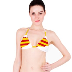 Flag Map Of Catalonia Bikini Top