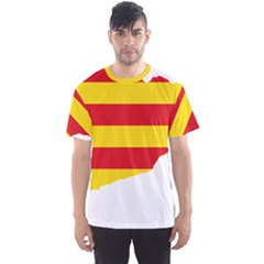 Flag Map Of Catalonia Men s Sport Mesh Tee