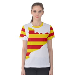 Flag Map Of Catalonia Women s Cotton Tee