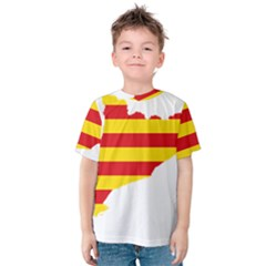Flag Map Of Catalonia Kid s Cotton Tee