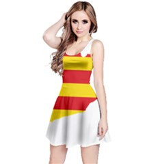 Flag Map Of Catalonia Reversible Sleeveless Dress