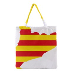 Flag Map Of Catalonia Grocery Tote Bag