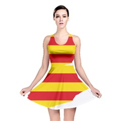 Flag Map Of Catalonia Reversible Skater Dress