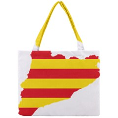 Flag Map Of Catalonia Mini Tote Bag