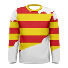 Flag Map Of Catalonia Men s Long Sleeve Tee