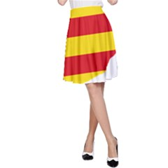 Flag Map Of Catalonia A-Line Skirt