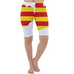 Flag Map Of Catalonia Cropped Leggings