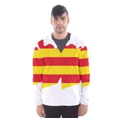 Flag Map Of Catalonia Hooded Wind Breaker (Men)