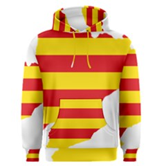 Flag Map Of Catalonia Men s Pullover Hoodie