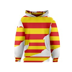Flag Map Of Catalonia Kids  Pullover Hoodie