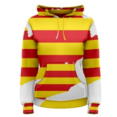Flag Map Of Catalonia Women s Pullover Hoodie