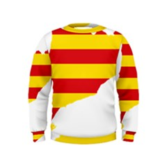 Flag Map Of Catalonia Kids  Sweatshirt
