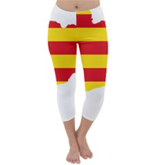 Flag Map Of Catalonia Capri Winter Leggings